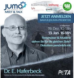 Sind Muslime Tierschützer? Eine Diskussionsrunde mit Dr. Haferbeck von der Tierrechtsorganisation PeTA e.V.