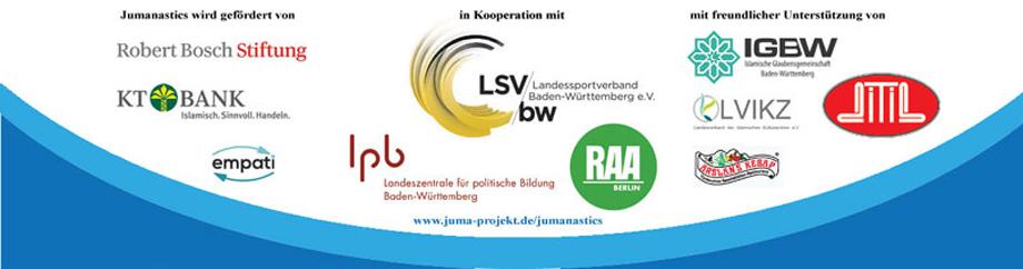 Kooperationspartner, Sponsoren und Träger der JUMA Sportgesundheitskampagne in Baden-Württemberg