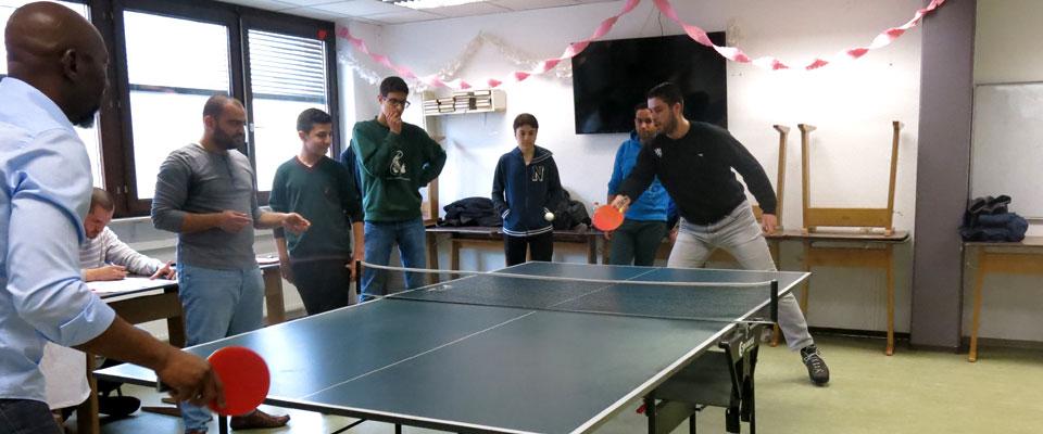 Tischtennisturnier im islamischen Zentrum in Stuttgart