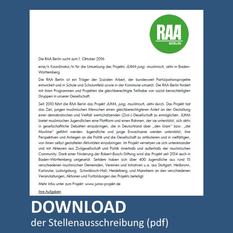 Download Stellenausschreibung pdf