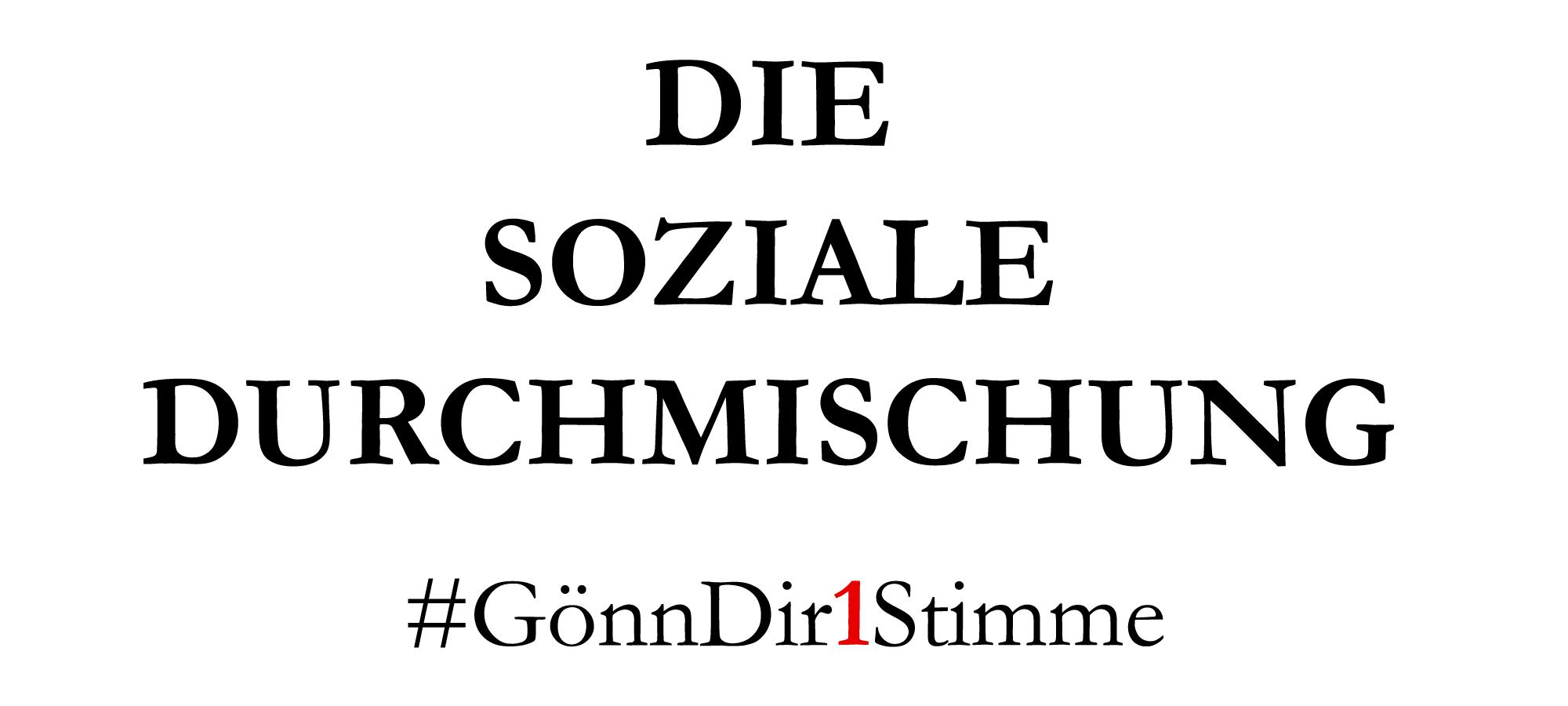 Ich würde gerne wissen, wie Sie sich für eine bessere soziale Durchmischung in den Berliner Bezirken einsetzen wollen?