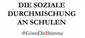 Ich würde gerne wissen, wie Sie sich für eine bessere soziale Durchmischung in Berliner Schulen einsetzen wollen?