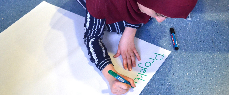Welche Projektideen haben junge Muslime aus Baden-Württemberg. In verschiedenen Workshops der Zukunftswerkstatt bei JUMA entwickeln Jugendliche eigene Projekte