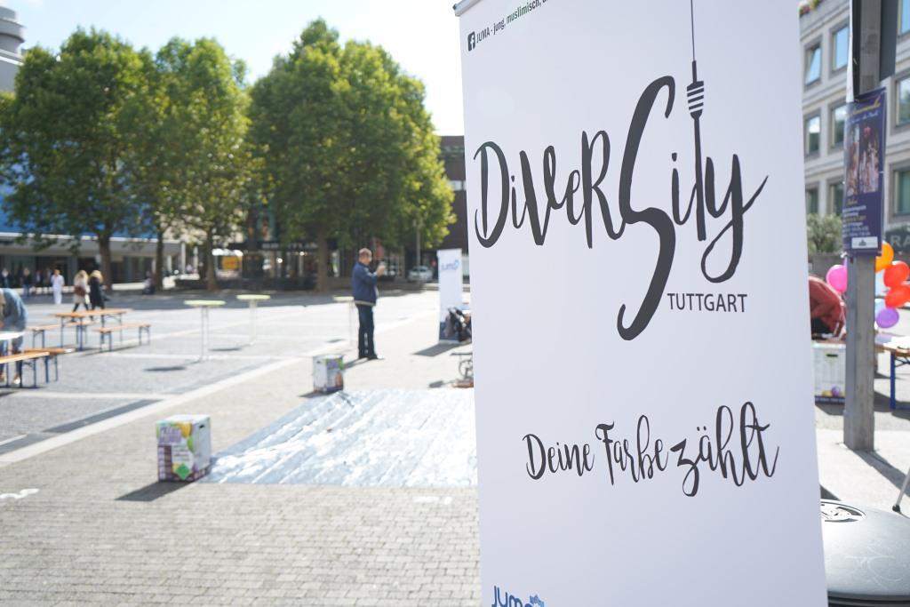 DiverCity am 15.9.2017 auf dem Stuttgarter Marktplatz