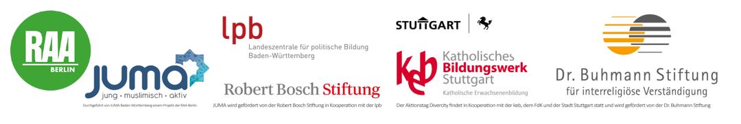 Diese Institutionen unterstützen den DiverCity Aktionstag von JUMA Baden-Württemberg