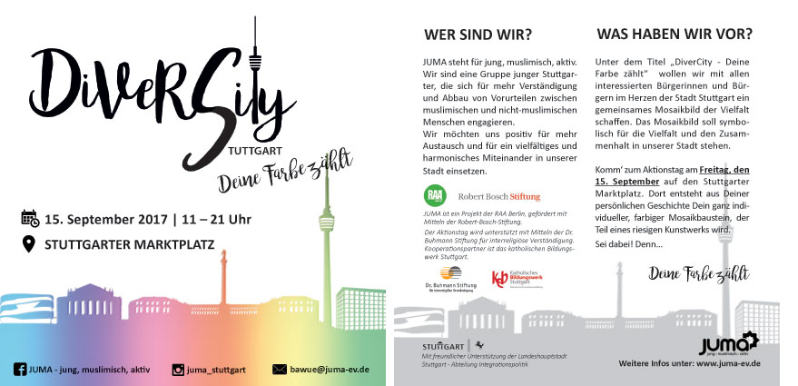Download des Flyers von DiverCity in Stuttgart